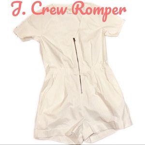 J.Crew White Stripe Romper Shorts Size 4